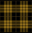 black and yellow tartan plaid seamless pattern vector image vector image