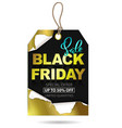 black friday sale tag design vector image