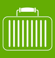 briefcase icon green vector image