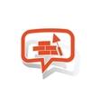 Building wall message sticker orange vector image vector image