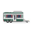camping trailer caravan isolated icon vector image vector image
