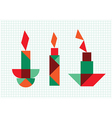 candles on a white background vector image