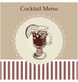 Cocktail menu cover template vector image