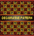 Colorful decorative geometric pattern background vector image