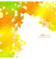 Creative abstract triangle pattern vector image vector image