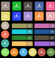 Cyclist icon sign Set from twenty seven vector image vector image
