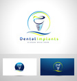 Dental Implants Logo vector image vector image