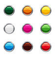 different buttons icons set cartoon style vector image vector image