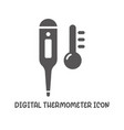 digital temperature icon simple flat style vector image vector image