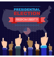 Digital usa election with hand in the air vector image vector image