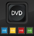 dvd icon symbol Set of five colorful stylish vector image vector image