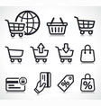 ecommerce icons symbol set vector image vector image