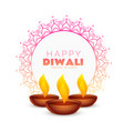 elegant happy diwali festival background with vector image vector image