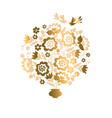 elegant luxury floral design element vector image vector image