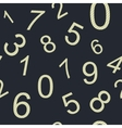 Endless pattern numbers vector image vector image