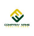 f f monogram logo f letter logo design vector image