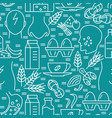 food intolerance seamless pattern in line style vector image