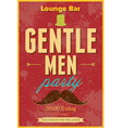 Gentlemen Party Typography poster vector image