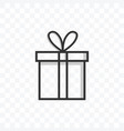 gift box icon on transparent background vector image vector image