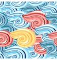 graphic pattern of waves vector image vector image