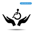 hand helping handicapped icon vector image