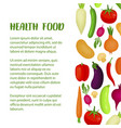 healthy food mockup banner kitchen and restaurant vector image
