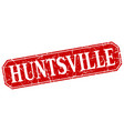 huntsville red square grunge retro style sign vector image vector image