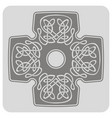 icon with cross and ethnic celtic ornaments vector image vector image