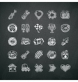 Icons Set of Car Symbols on Blackboard vector image vector image