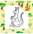 kangaroo coloring page vector image
