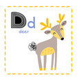 letter d funny alphabet for young children vector image vector image