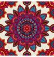 Mandala boho hand drawn seamless pattern vector image vector image