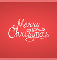 merry christmas greeting card with vector image