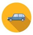 Mini van car icon flat style vector image vector image