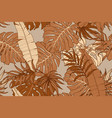 modern exotic seamless pattern tropical leaves vector image vector image
