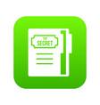 notepad icon digital green vector image vector image