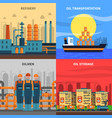 oil concept icons set vector image vector image