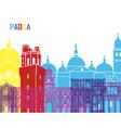 Padua skyline pop vector image vector image