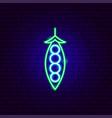 peas neon sign vector image