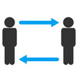 persons exchange arrows icon vector image vector image
