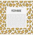 pizza concept with thin line icons vector image vector image