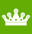 royal crown icon green vector image vector image