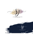 s j sj initial letter handwriting and signature vector image