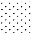 seamless pattern from abstract black heart shapes vector image