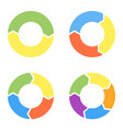 set four circular items for infographics vector image vector image
