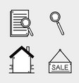 set line flat icons design vector image