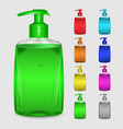 Set of multicolored bottles of liquid soap vector image