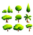 set of polygonal trees and bushes vector image vector image