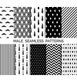 set of printable male seamless patterns vector image vector image