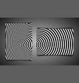 set template wormhole geometric optical illusion vector image vector image